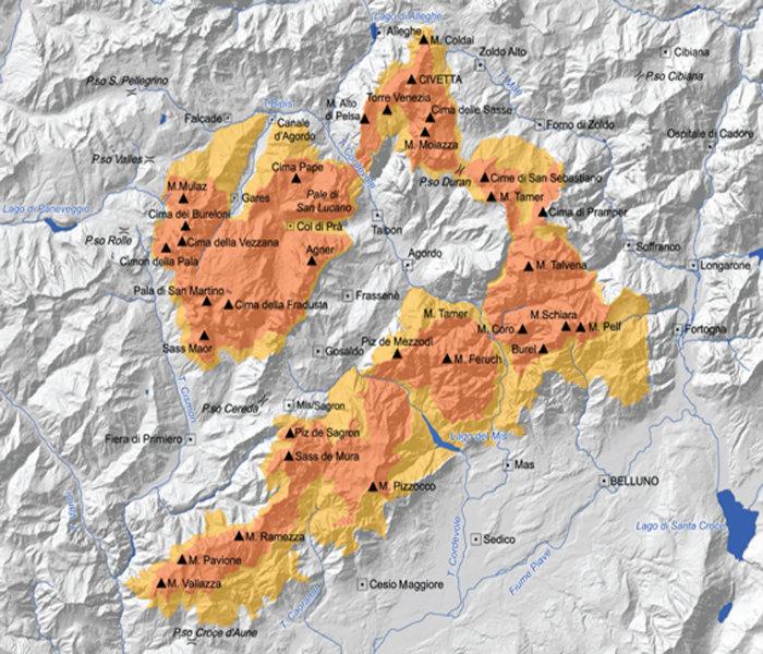 Mappa Pale di San Martino
